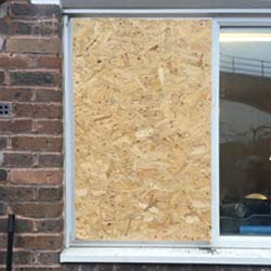 Window and Door Boarding Up Services in Surrey Quays SE16 & across South East London