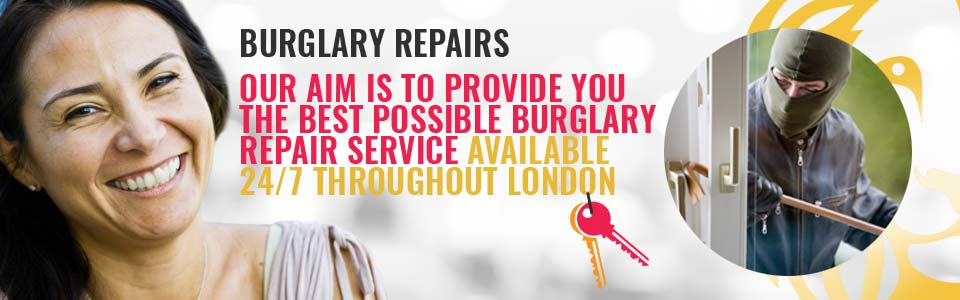 Locksmith for Burglary Damage Repair in Gunnersbury Park W3 & throughout West London