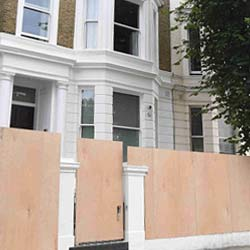 Vacant Property Boarding Up Protection London