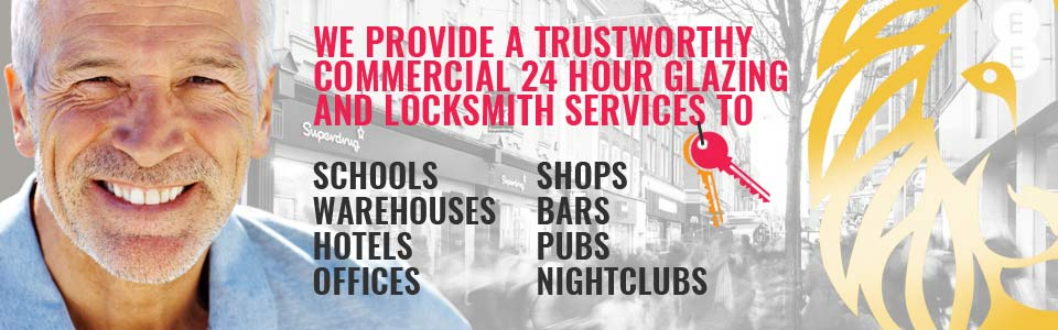 Local 24Hr Emergency Commercial Glazing & Locksmith Services in London & throughout Greater London